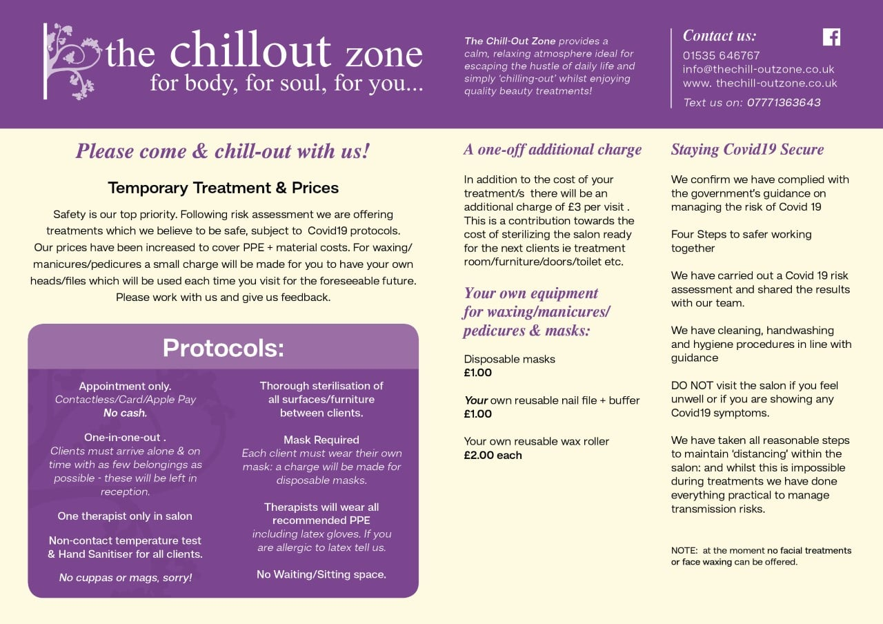 The Chill-Out Zone Poster - Protocols